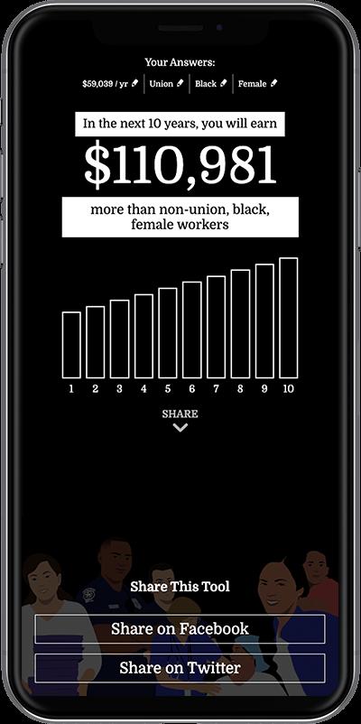 Screenshot of wage calculator